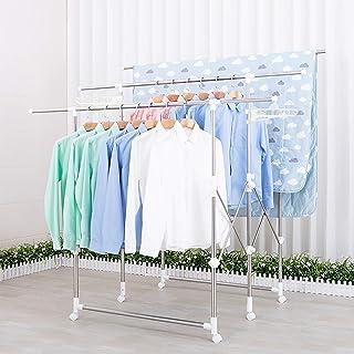 Todeco Porte-vêtements, Tringle à vêtements, Porte-vêtements Extensible simpliste, Barre à vêtements Durable, Portable, Su...