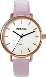 Ladies Fashion Bracelet Watch Pink Slim Leather Strap Simple Quartz WristWatch For Women