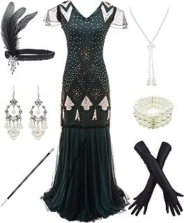 Women 1920s Vintage Flapper Fringe Beaded Great Gatsby Party Dress