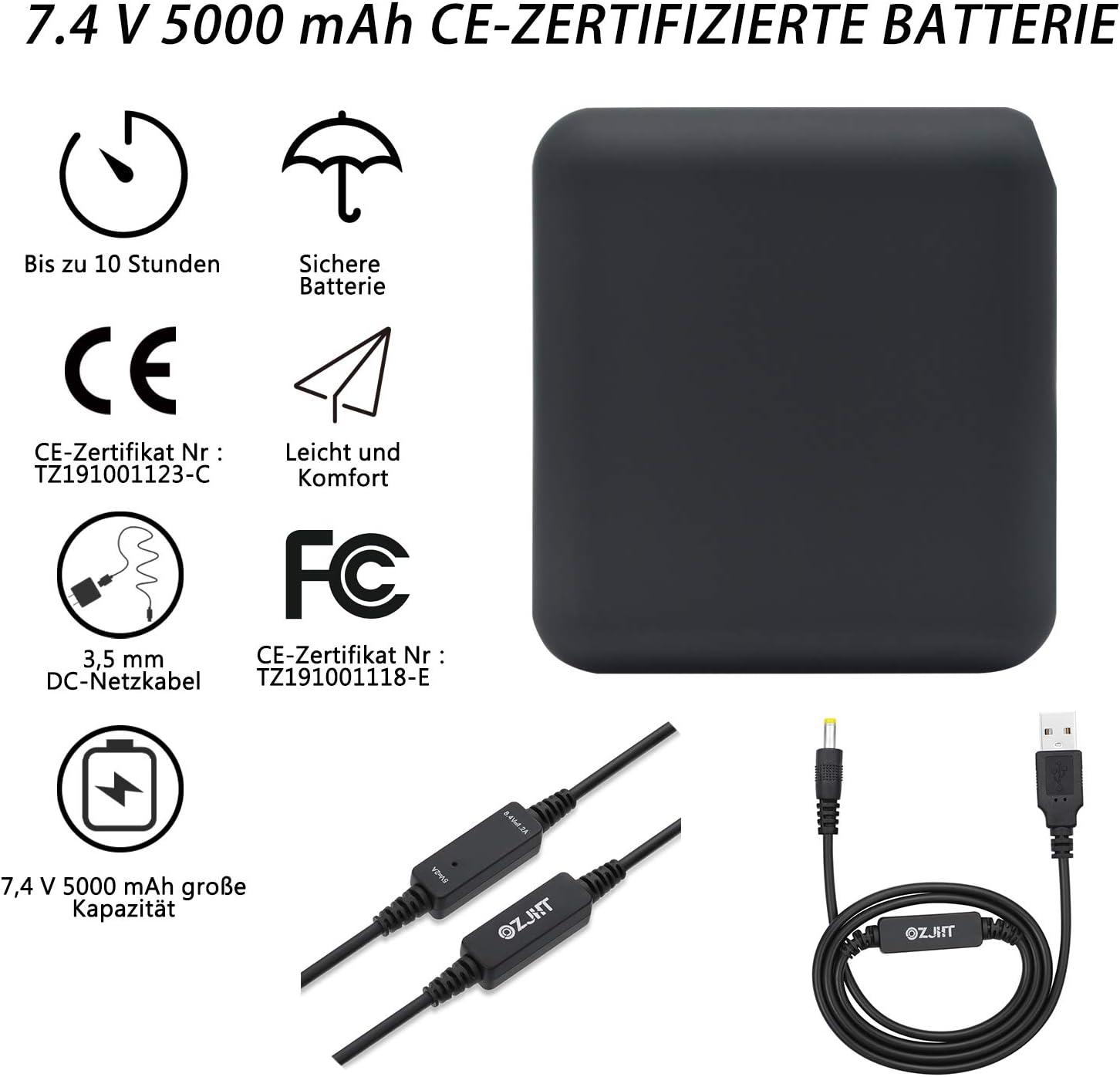 ZJHT Chaqueta Calefactable con 7.4V Bater/ía Y Cable de Carga para Hombre Y Mujer,Chaquetas con Calefacci/ón con 3 De Temperatura Ajustable Y 5 Zonas De Calentamiento para Al Aire Libre