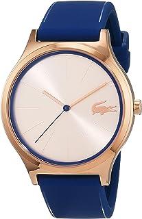 Lacoste Nikita 2000944 - Reloj casual de cuarzo para mujer (oro y silicona), color azul
