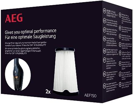 AEG AEF150 Austauschfilter, 2 Stück, passend für alle AEG Ergorapido CX7-2 Modelle CX7-2-45AN, CX7-2-35FFP, CX7-2-30GM, CX7-2-45BM