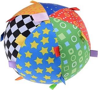 Heyuni. Soft Cotton Arts Cloth Ball Multicolored Sensory Rattle Bell Ball