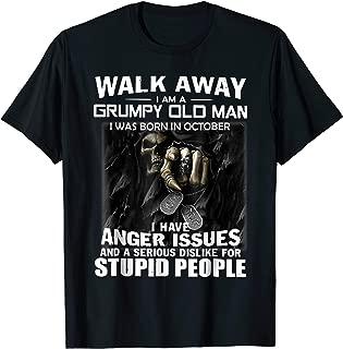 I Am A Grumpy Old Man I Was Born In October Shirt