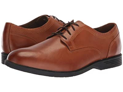 Hush Puppies Shepsky Plain Toe Oxford (Dark Tan Leather) Men