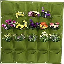 Yosoo 25 Pockets Planting Bags Wall Hanging Gardening Planter Outdoor Indoor Vertical Greening Grow Bags Flower Growing Co...