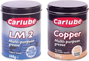 Carlube Copper Slip Anti Sieze Compound Multi Purpose LM2 Lithium Grease Set