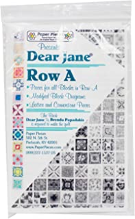 Dear Jane: Paper Pieces for all 13 blocks in Row A of the historic Dear Jane Quilt (English)
