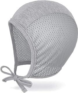 JELLYTREE Baby Hat Bonnet Summer Mesh Soft Toddler Boys Girls Fashion Pilot Cap Baby Hat Infant Beanie, 6m 12m 18m