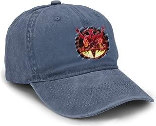 HuiXieJian Unisex Tenacious D Logo Baseball Hat Adjustable Cotton Denim Dad Hats Black