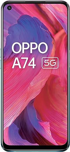 OPPO A74 5G (Fantastic Purple, 6GB RAM, 128GB Storage)  5000 mAh   18W Fast Charge   90Hz Super Amoled Display