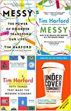 Tim Harford Collection 4 Books Set (Messy The Power of Disorder to Transform Our Lives, Messy, Fifty Things that Made the ...