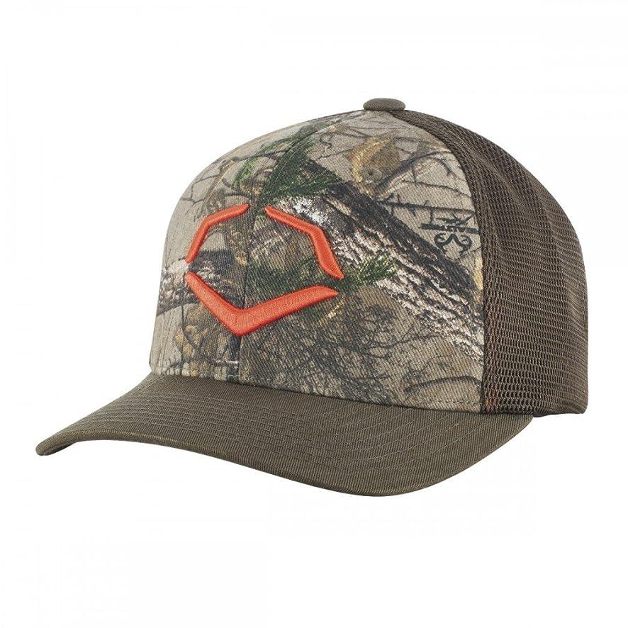 EvoShield Flex Fit Trucker Hat - Gray/Orange Camo Small/Medium Gray/Orange