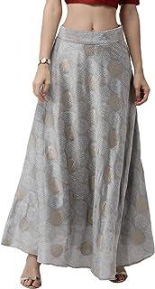 De Moza Women's Printed Skirt Woven Bottom Polyester