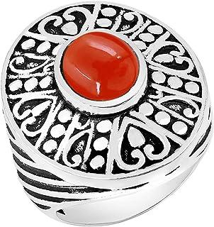 حجر القمر الطبيعي لابرادوريت لابيس النمر العين الدائري 8 × 10 مم شكل بيضاوي الأحجار الكريمة 925 الفضة تراكب سوليتير خواتم