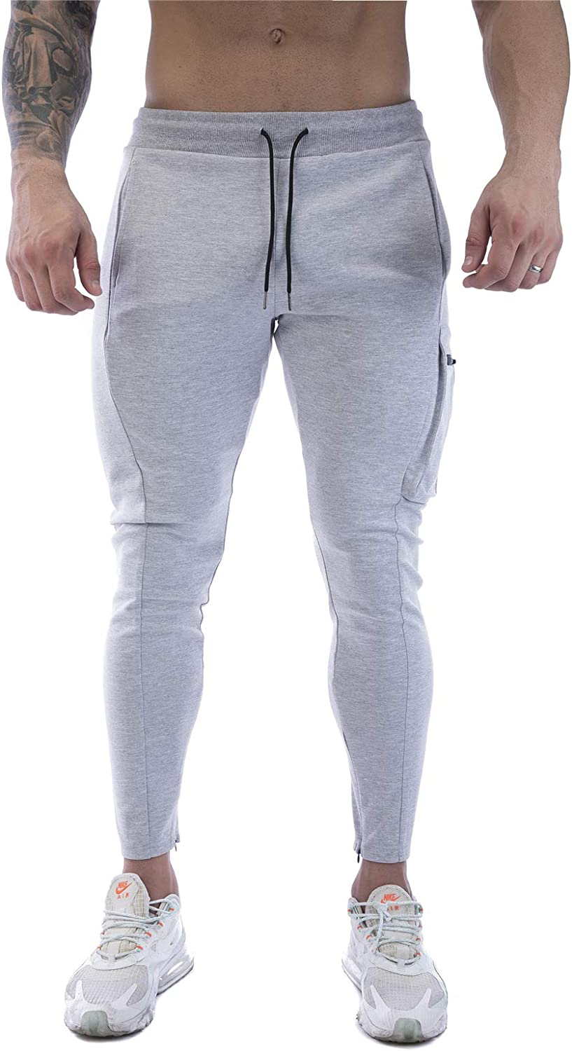 FIRSTGYM Mens Joggers Sweatpants Slim Fit Running Performance Gym Pants