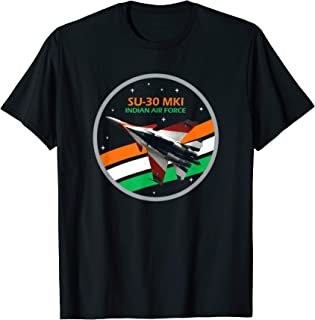 India SU-30 MKI Fighter Jet Tee - Indian Air Force Shirt T-Shirt