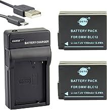 DSTE® アクセサリーキット Panasonic DMW-BLC12 BP-DC12 互換 カメラ バッテリー 2個+USB充電器キット対応機種 Lumix DMC-G5 DMC-G6 DMC-G7 DMC-G90 DMC-G95 DMC-G...