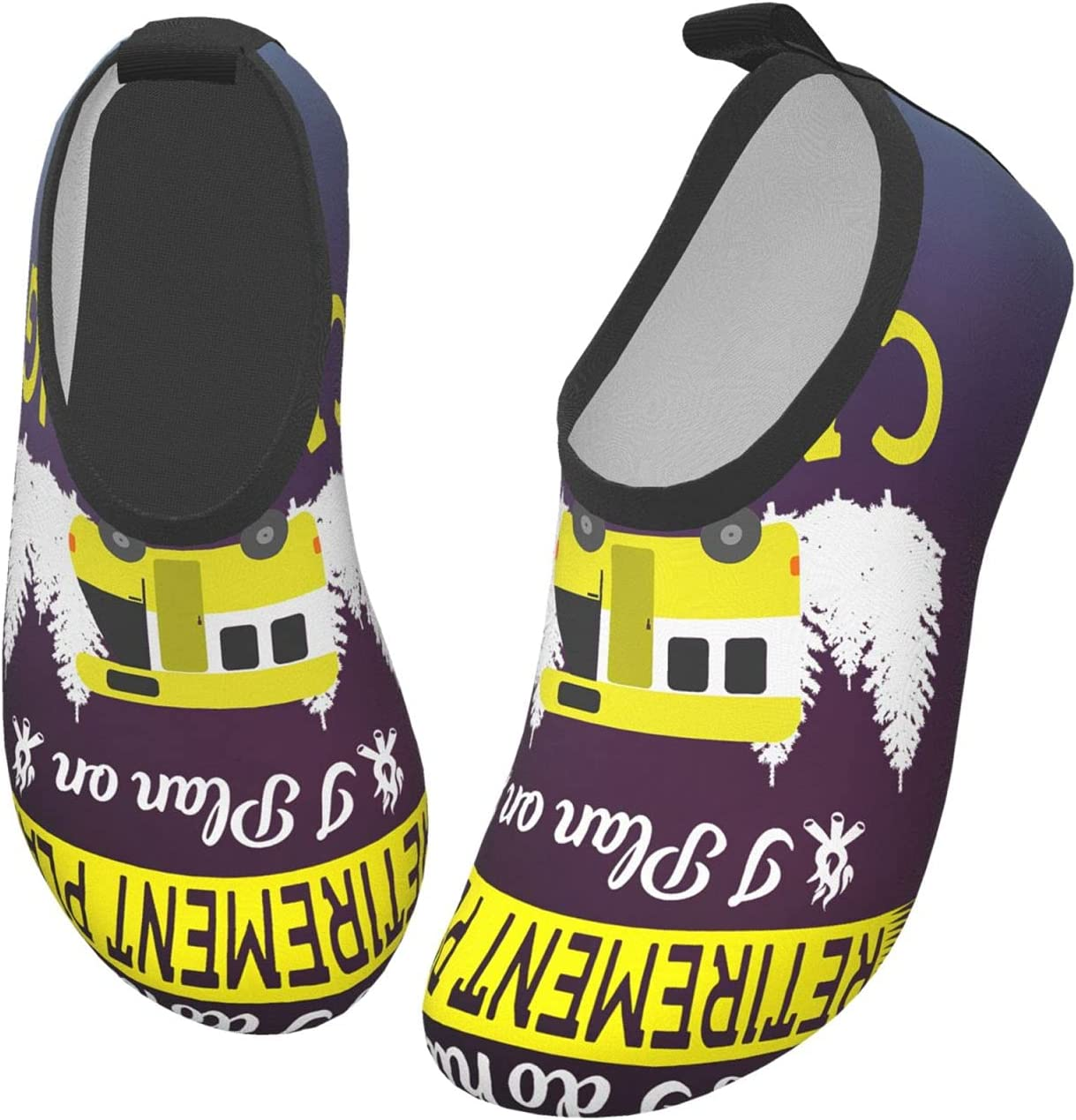 wobzfrok Simple Camping Yes I Do Have A Retirement Plan Kids Water Shoes Girls Boys Toddler Non-Slip Quick Dry Aqua Socks for Beach Swim Walking 24/25