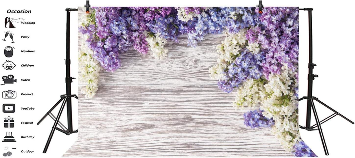 10x6.5ft Spring Flowers Backdrop Wooden Table Red Rose Carnation Backdrop for Photography Bokeh Background Girls Birthday Party Happy Mothers Day Wedding Girls Women Artistic Portrait