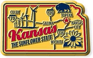 Premium State Map Magnet - Kansas