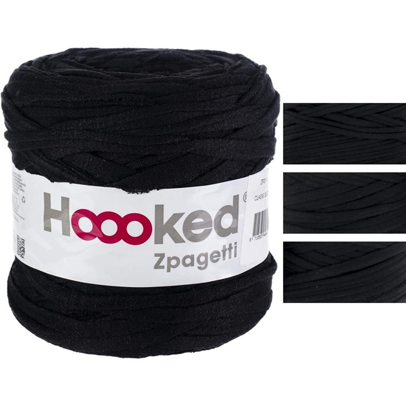 Hoooked Zpagetti Yarn-classic Black - Pure Black Shades