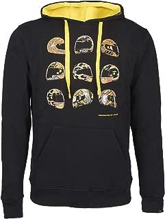MotoGP Valentino Rossi Mens Helmet Hoodie Black Sweatshirt