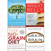 Grain brain whole life plan, wheat belly, no-grain diet, grain brain 4 books collection set