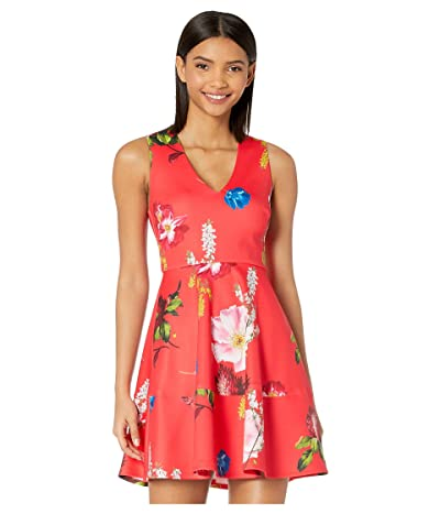 Ted Baker Kinle Dip Neck Berry Sundae Skater Dress (Red) Women