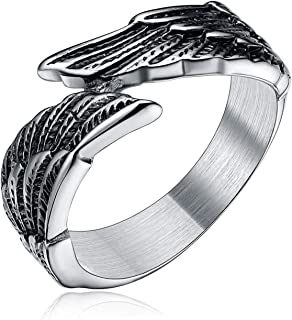 Best black ring with angel wings Reviews