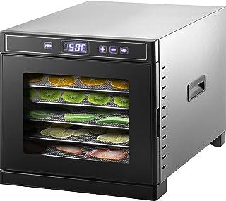 VEVOR Déshydrateur Alimentaire Fruits Légumes 6 Plateaux 30x33 cm Machine à Déshydrater Aliments Commerciale Acier Inoxyda...