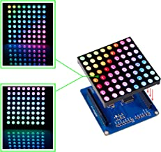 SunFounder Full Color RGB LED Matrix Driver Shield + RGB Matrix Screen for Arduino