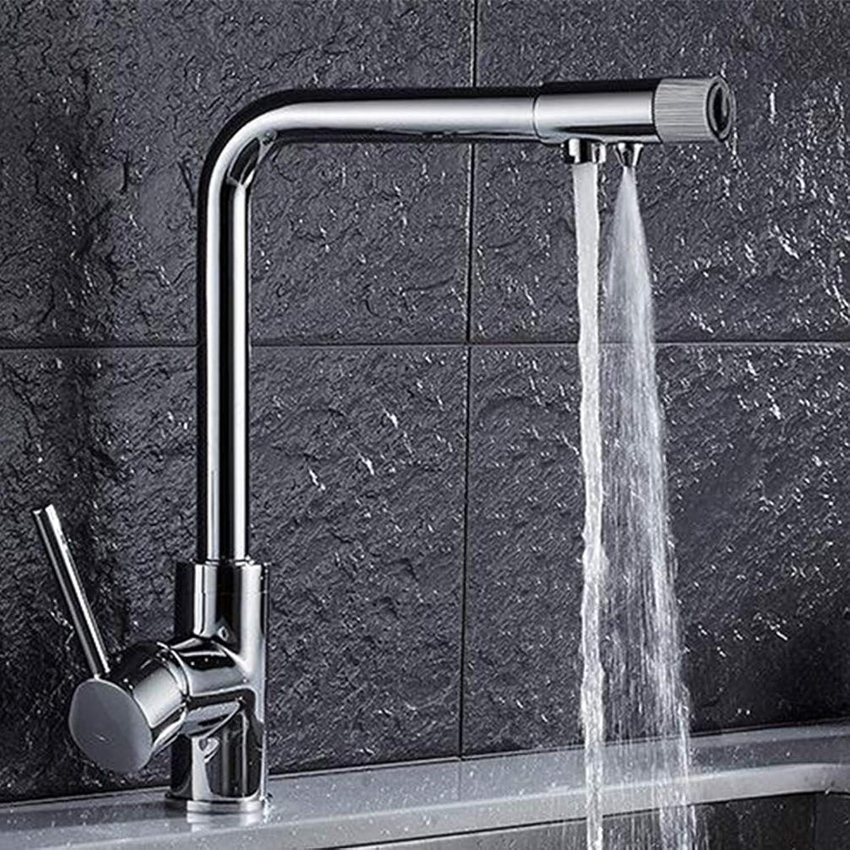 FZHLR Verchromt Water Purification Küchenarmatur Trinkwasser Küchenarmatur 3-Wege-Wasser-Filter-Tap Spülbecken Hahn, Chrom C