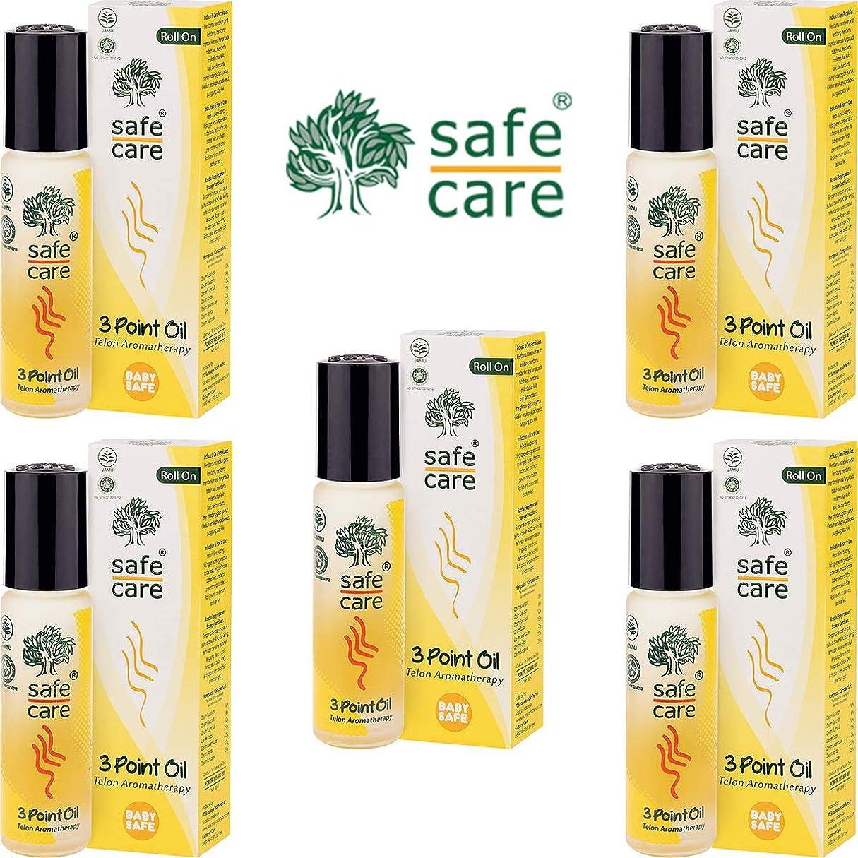 伝えるペース掃除Safe Care セーフケア Aromatherapy Telon 3Point Oil アロマテラピー リフレッシュオイル テロン3ポイントオイル ロールオン 10ml×5本セット [海外直送品]