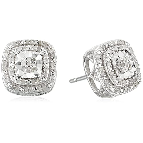 98d4c56a7 sterling silver double halo diamond stud earrings (1/4 cttw, j-k color,
