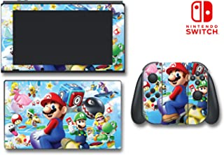 New Super Mario Party Island Tour Yoshi 3D Video Game Vinyl Decal Skin Sticker Cover for Nintendo Switch Console System