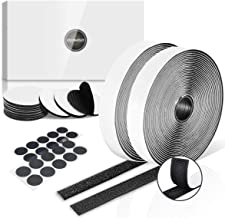 Klittenband Zelfklevend Zwart Extra Sterk 8 m Lang 20 mm Breed, Ronde Dubbelzijdig Klittenband Tape Diameter 50 mm en 20 m...