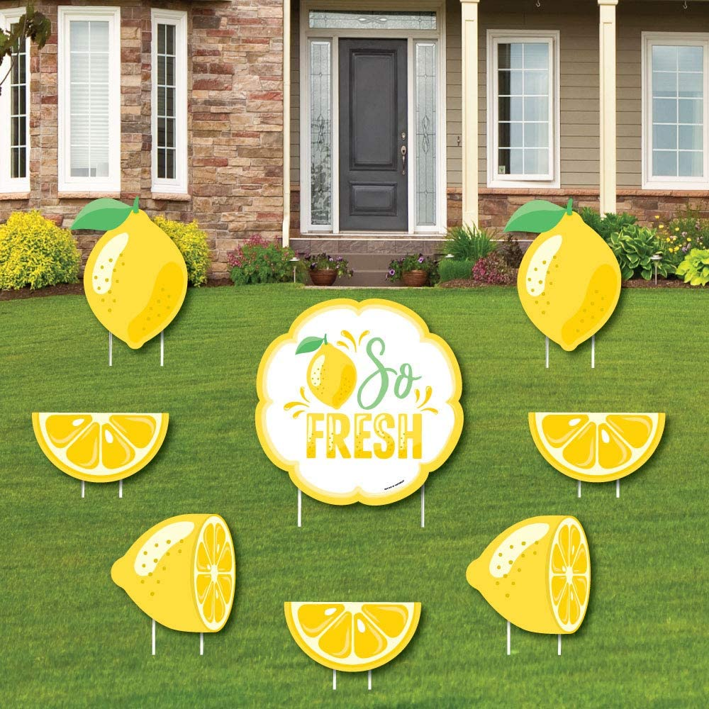 Big Dot of Happiness So New products, world's highest quality popular! Fresh - Superior La Yard and Outdoor Lemon Sign