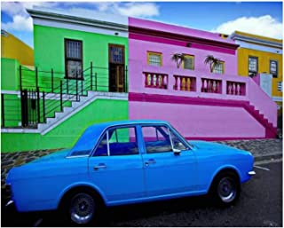 Paint By Numbers The colorful Bo Kaap neighborhood Cape Town South Africa Digital Coloring Oil Painting Canvas With Inner ...