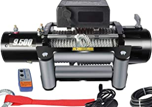 DCFlat 12V 12000 LBS Wire Rope Electric Winch for Towing ATV/UTV/Boat Off Road with Mounting Bracket Wireless Remote Control