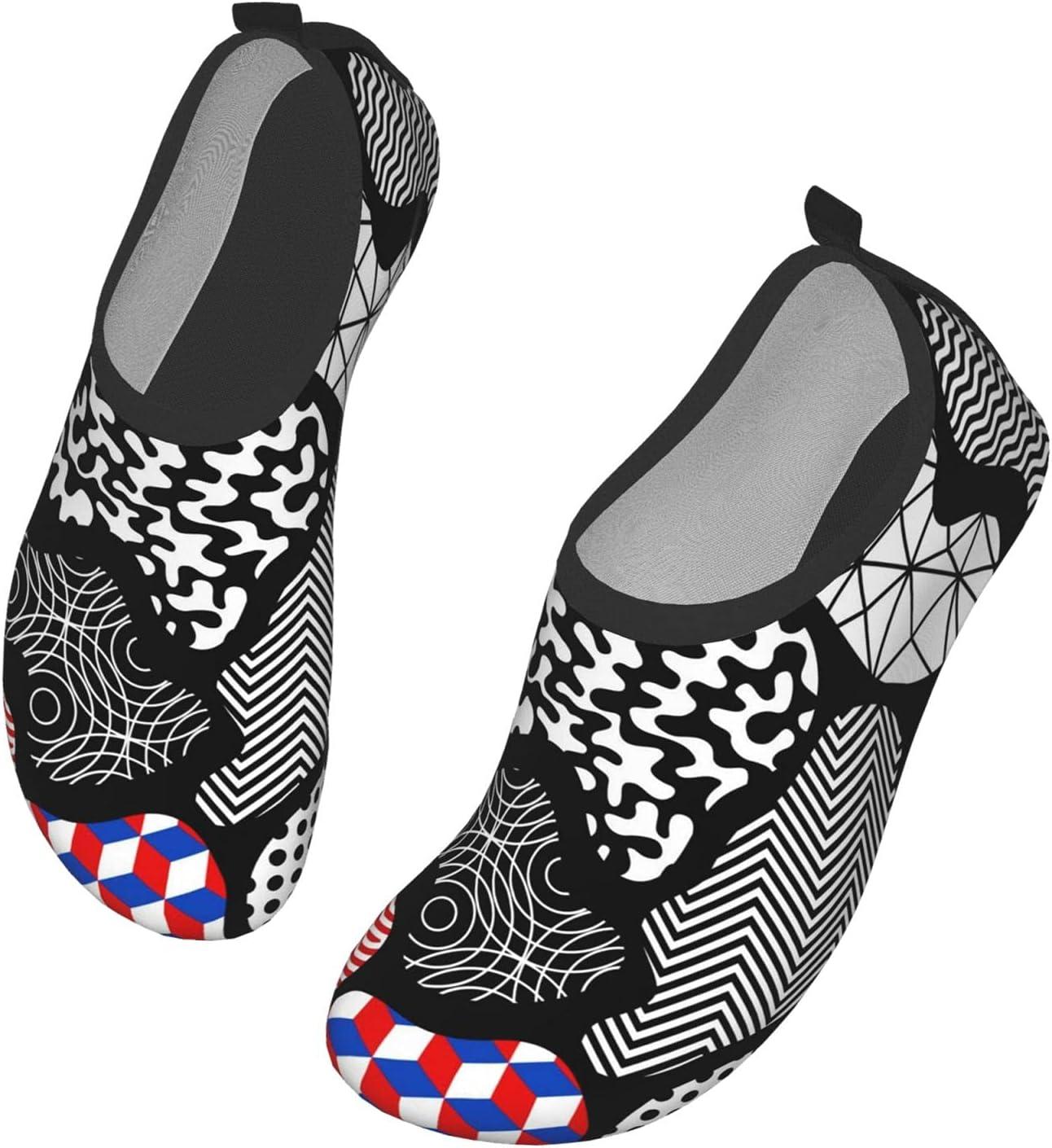 NA Large Color Pattern Men's Women's Water Shoes Barefoot Quick Dry Slip-On Aqua Socks for Yoga Beach Sports Swim Surf