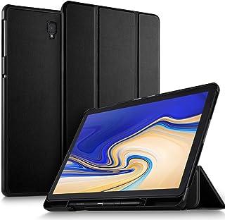 Luibor Samsung Galaxy Tab S4 10.5 SM-T830/SM-T835 Estuche - Cubierta Elegante Delgado Estuche de Piel Ultra Ligero Estuche Samsung Galaxy Tab S4 10.5 SM-T830 (Wi-Fi) SM-T835 (4G LTE) Tableta (Negro)