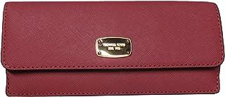 Michael Kors (マイケルコース)ジェットセットトラベルフラットサフィアーノレザー財布チューリップピンク