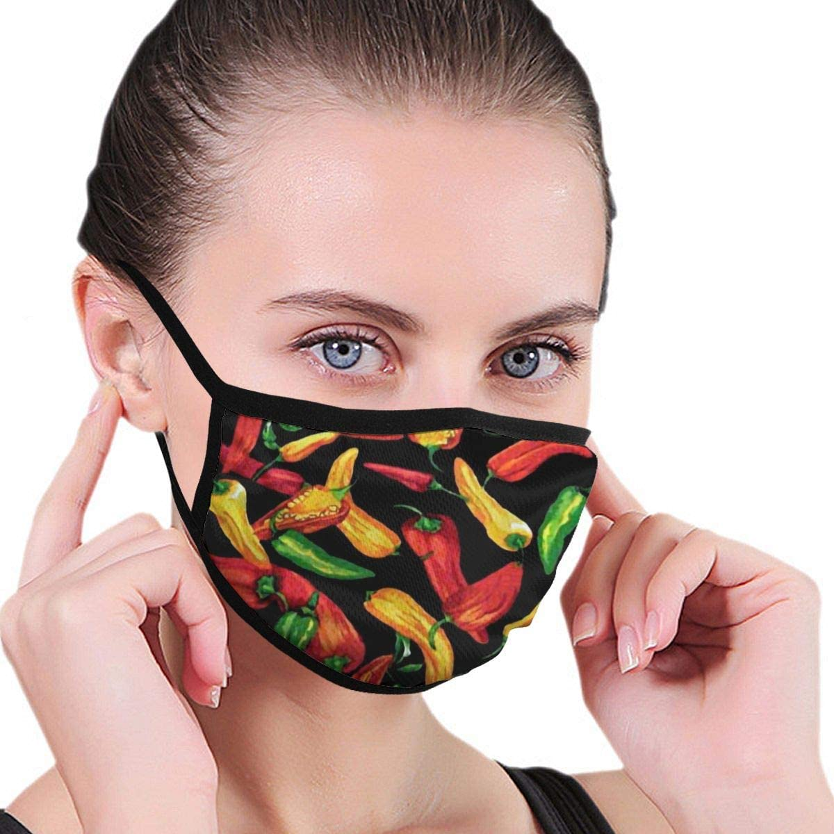 2 Packs Dust Mouth Protection Red Chili Cot Pepper Green Unisex Ranking TOP10 Nippon regular agency