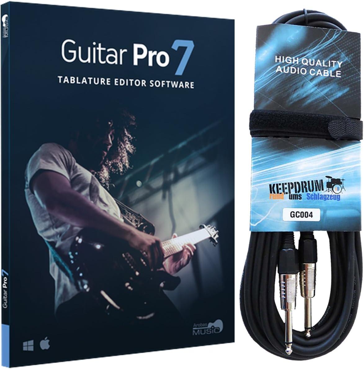 Arobas Guitar Pro 7.5 - Software de asociación (incluye cable de guitarra keepdrum de 6 m)