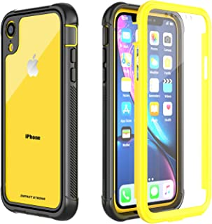 iPhone XR Clear Case, ImpactStrong Ultra Protective Case with Built-in Clear Screen Protector Transparent Full Body Cover ...