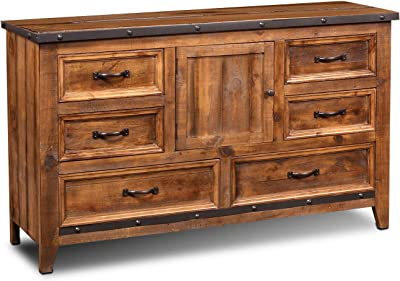 Sunset Trading Rustic City Dresser, Natural Oak
