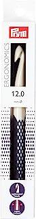 Prym Ergonomique Crochet pour la Laine, Blanc/Violet foncé, 12mm x 18cm