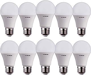 ULTRALED Juego de 10 bombillas LED gota A60, casquillo E27, luz natural 4000 K
