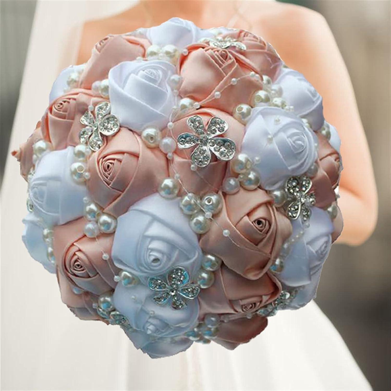 PAOMIAN Artificial Dedication Wedding Bouquets 2021 new Made Rhinestone Hand Flower